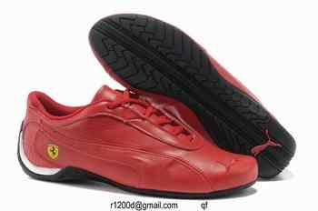 chaussure femme cuir rouge,achat puma femme,puma ferrari